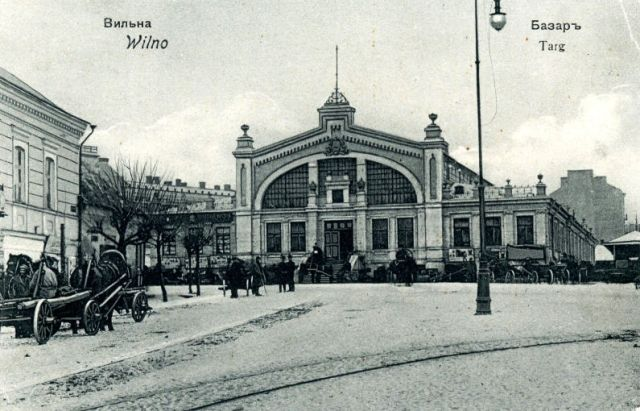 Halės Turgus, Vilnius in 1907