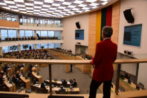 Aula Parlamentare oggi-Lituania Parlamento