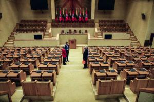 L'aula della dichiarazione indipendenza al Parlamento Lituano