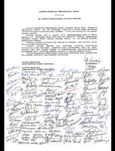 Lituania-Dichiarazione indipendenza 11 Marzo 1990