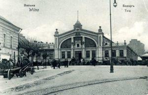 Il Mercato coperto di Vilnius nel 1907