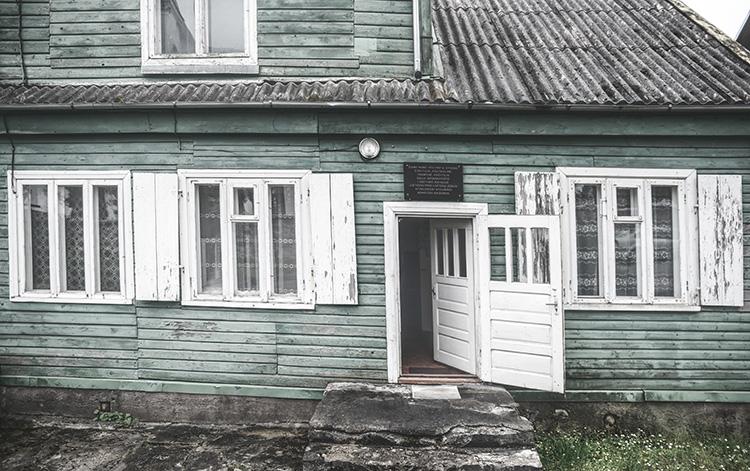 La casa di Laukuva, piccolo villaggio nei pressi di Šilalė, Lituania, dove visse Dalia Grinkevičiūtė. Quando tornò definitivamente dalla deportazione in Siberia.